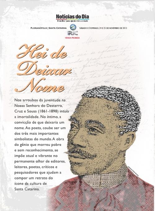 Capa do caderno especial sobre Cruz e Sousa