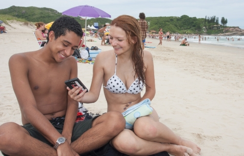 Tecnologia na praia