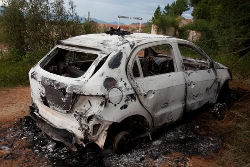 Carro queimado São José
