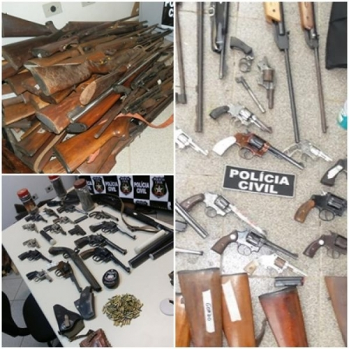 Polícia encontra arsenal de armas em Treze Tílias