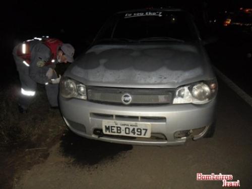 Motorista morre em acidente envolvendo três veículos na BR-282 em Ponte Serrada