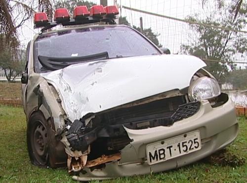 PMs ficam feridos em acidente de trânsito em Xanxerê