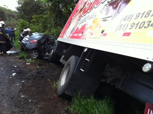 Mulher morre em acidente na SC-355 em Concórdia