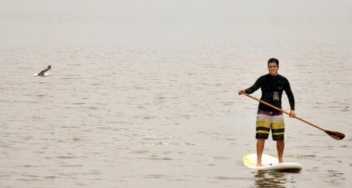 3741f2f69 Fábio Medeiros de Andrade encontrou na Baía Babitonga o lugar ideal para praticar  stand up paddle