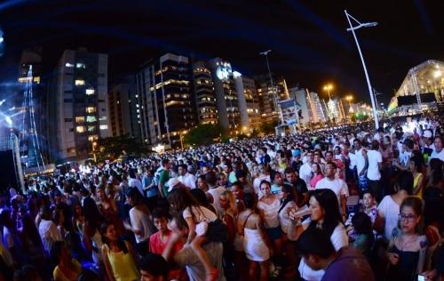 Festa da virada Florianópolis Beira-Mar Norte ano novo