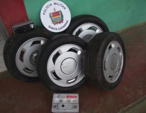 PM recupera objetos furtados em Chapecó