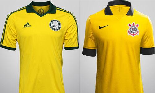 33c9a32bfa8f1 Corinthians  copia  Palmeiras e também pode vestir camisa amarela ...