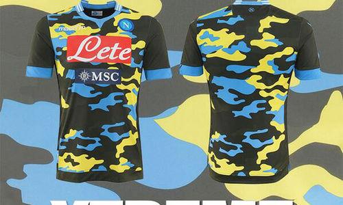 Napoli apresenta camisa reserva camuflada com cores diferentes  b3b5ba2d5230a