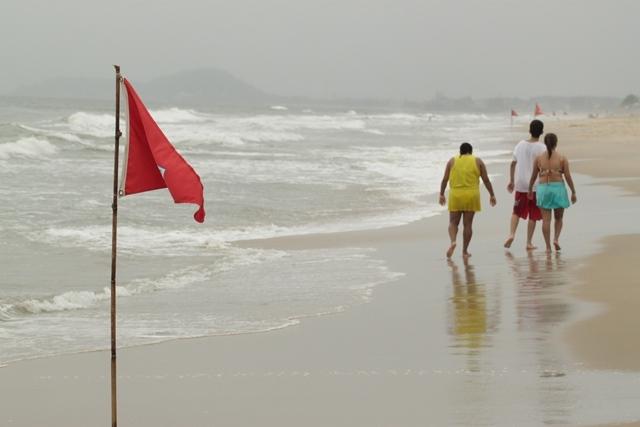 Ciclones extratropicais devem atuar na costa Sul do Brasil, provocando dias com forte agitação no mar - Fabrício Porto/arquivo/ND