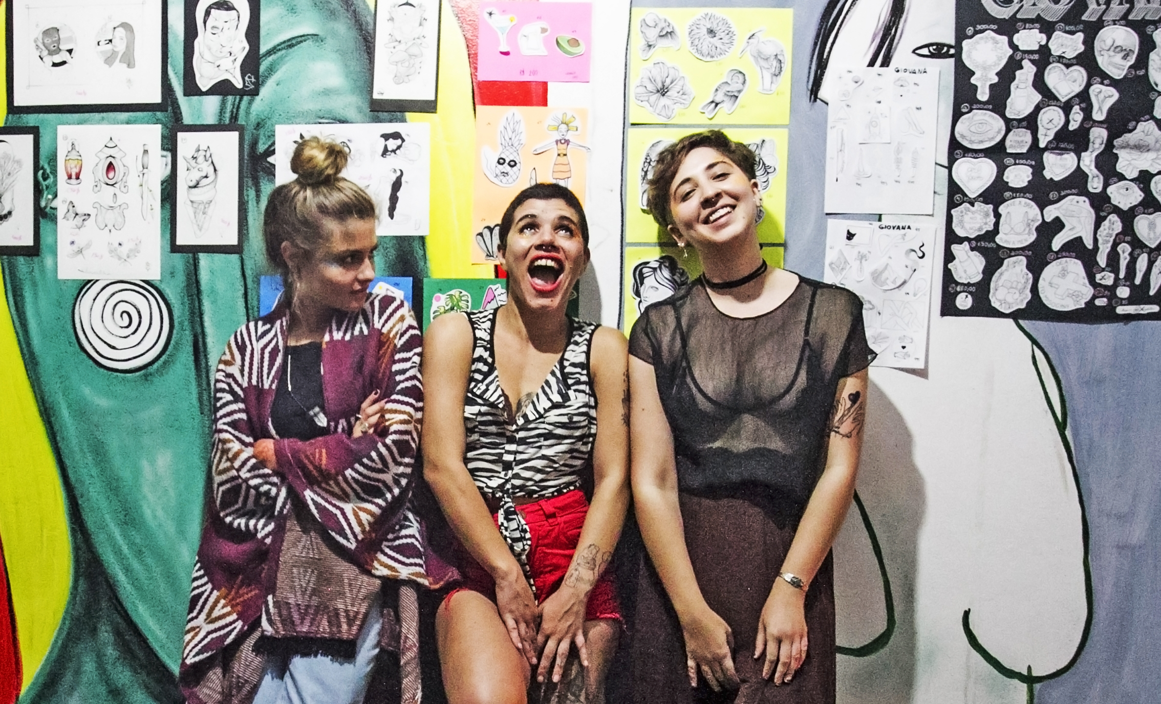 Stefanie Graczcki, Cristina Souza e Natalia Gapski na Casa Odara - Marco Santiago/ND