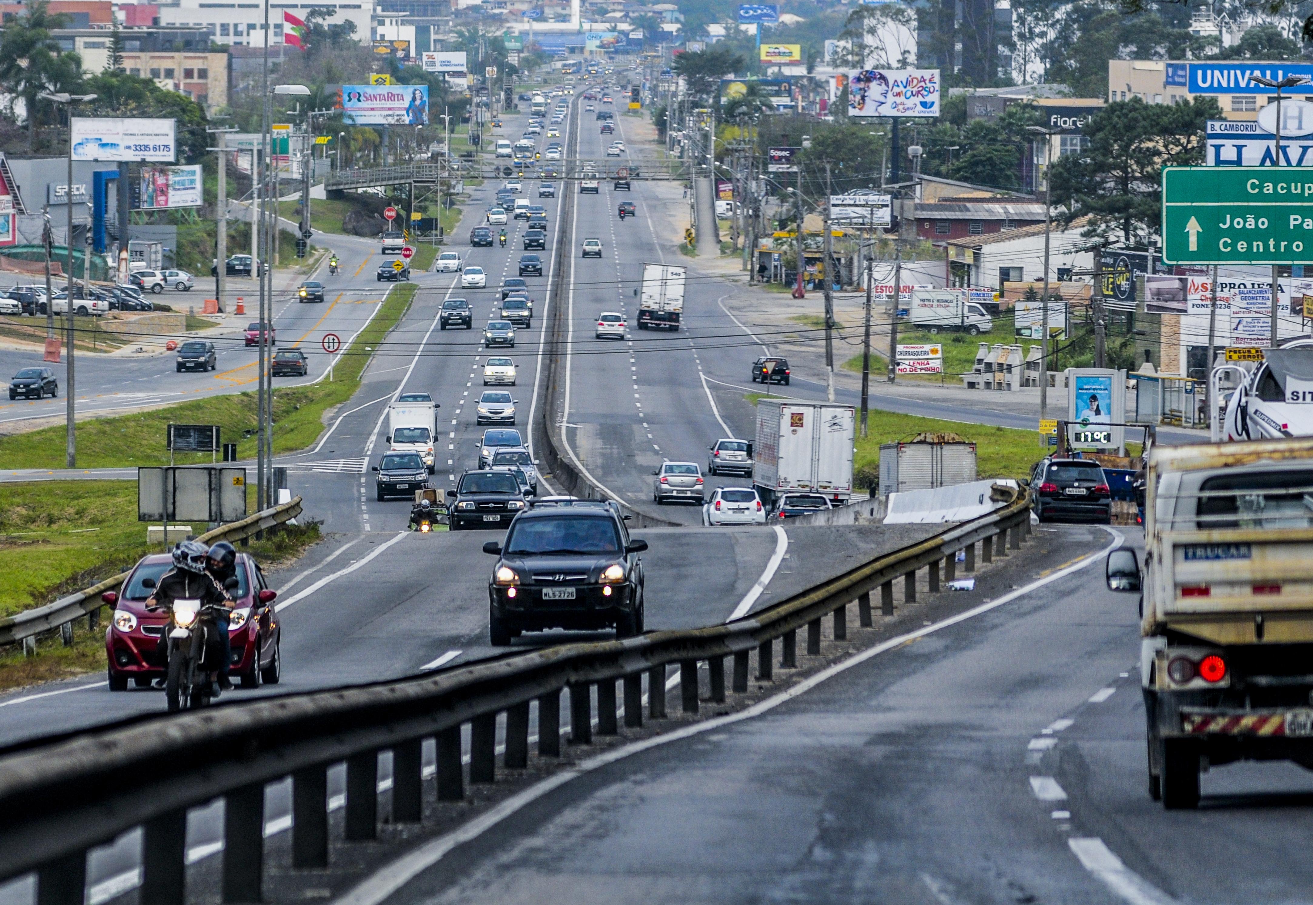 Rodovia SC-401, em Florianópolis - Eduardo Valente, 05.07.2016