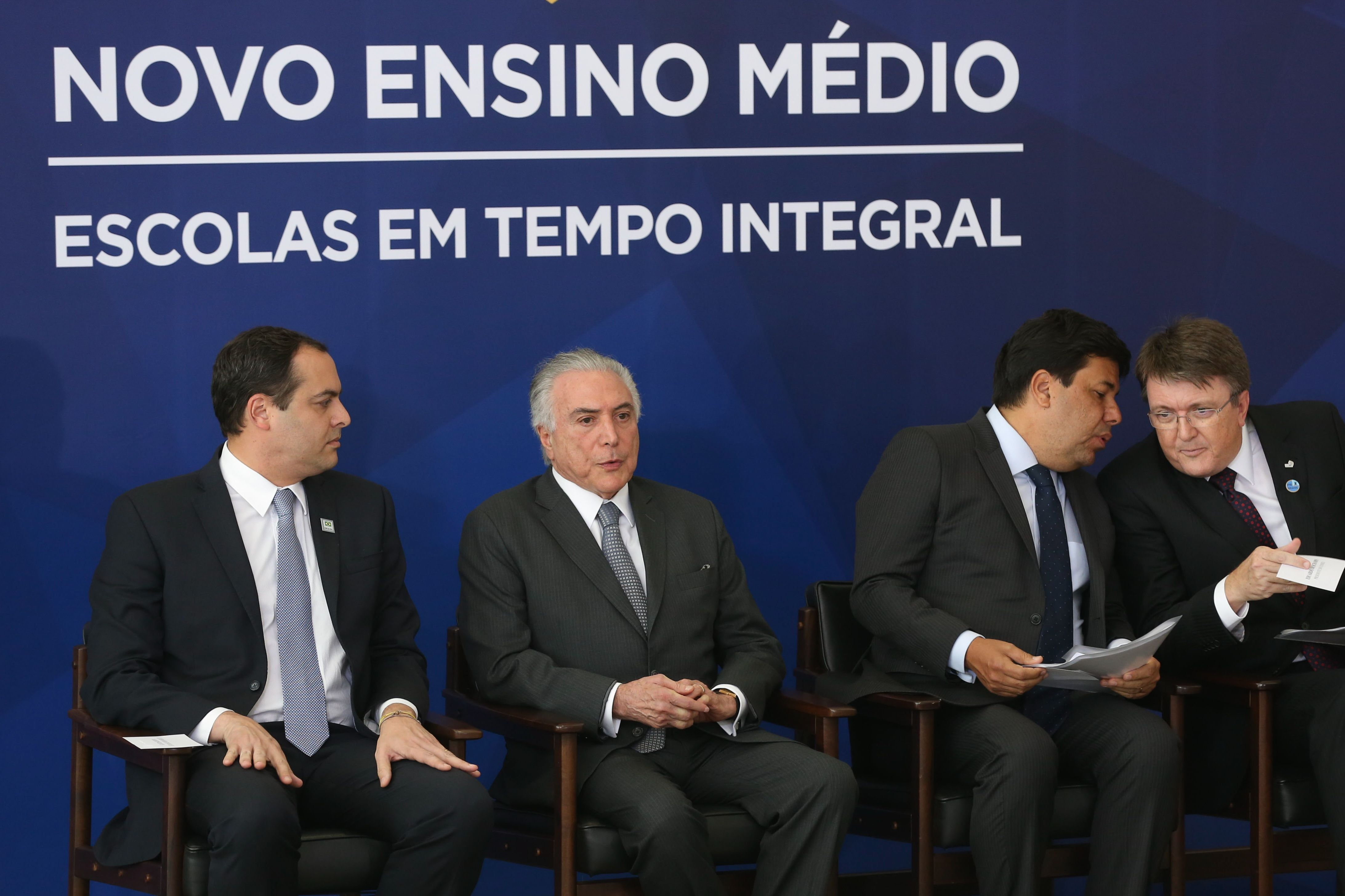 Presidente Michel Temer anunciou o novo plano nacional do Ensino Médio - Agência Brasil