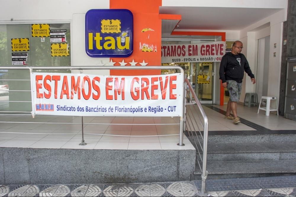 Greve nos bancos - Marco Santiago/Arquivo/ND
