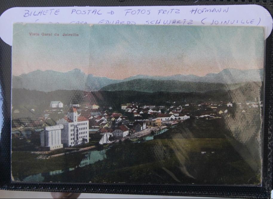 A antiga Joinville vista de cima - Reprodução/ND
