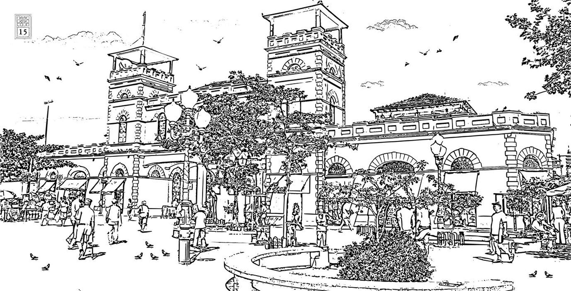 Livro Traz 118 Desenhos Para Colorir De Pontos Historicos E