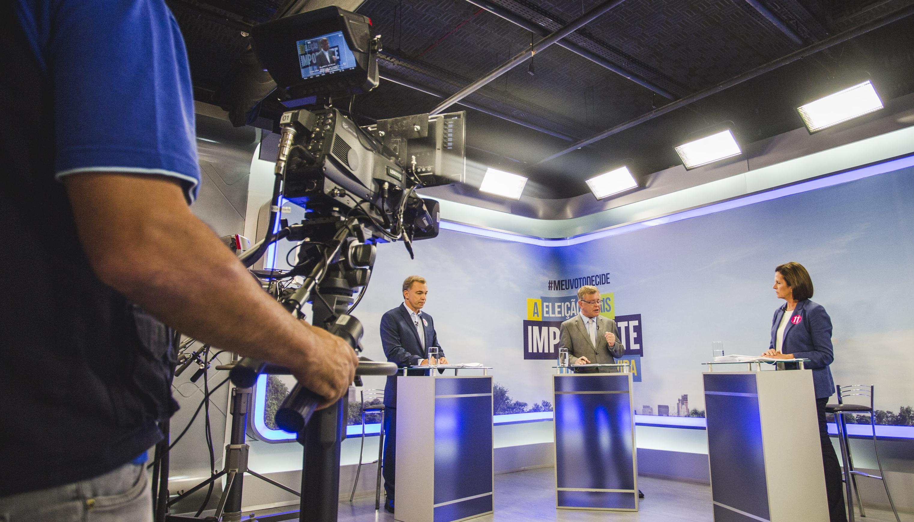 Angela e Gean participaram do debate do segundo turno - Daniel Queiroz/ND