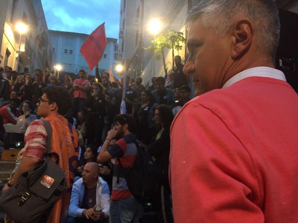 O candidato à prefeitura de Florianópolis Elson Pereira, do PSOL, ficou em terceiro colocado no primeiro turno - Gustavo Bruning/ND
