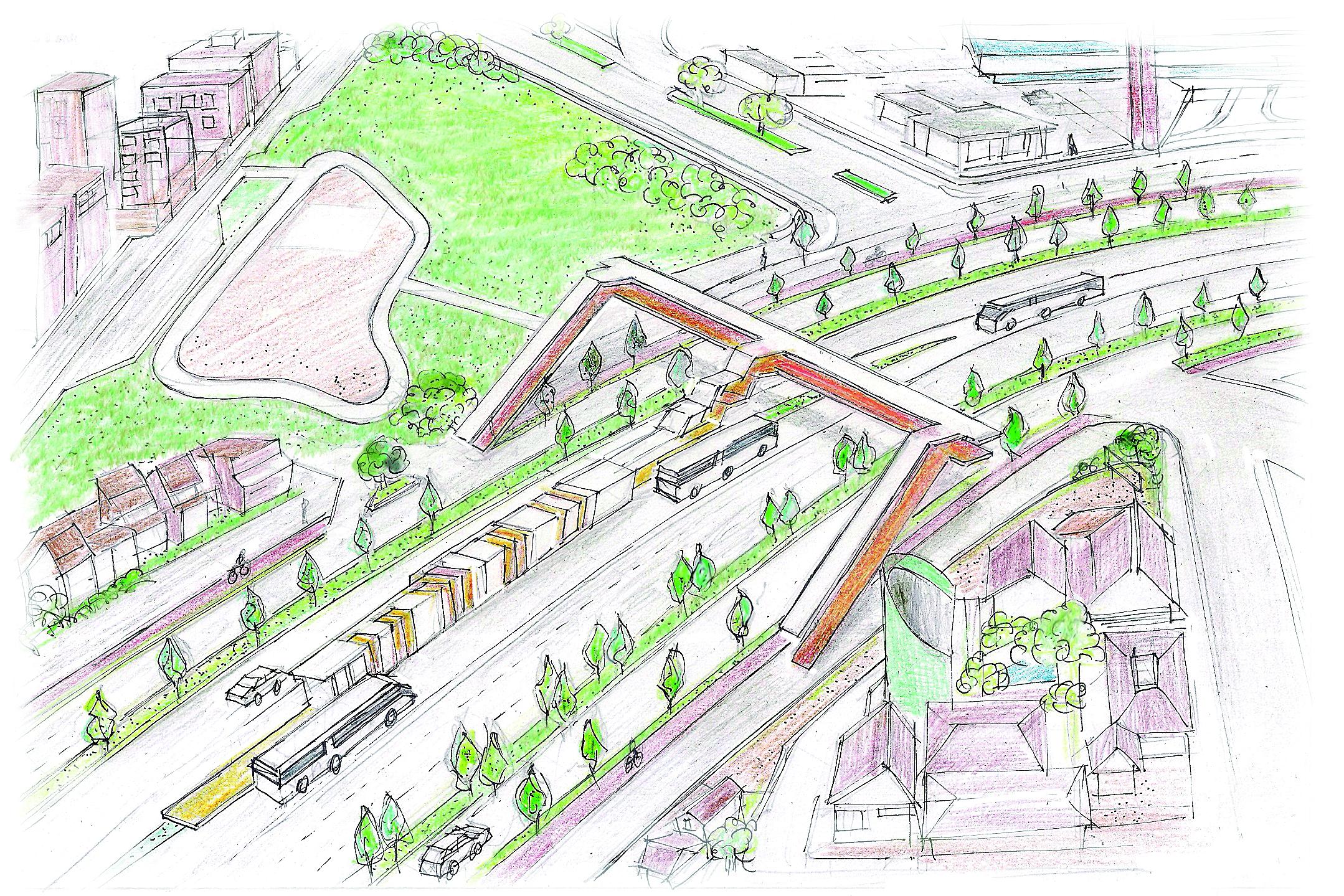 Transporte integrado - Ilustração: Marcelo Oliveira/ND