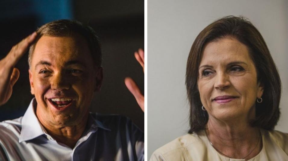 Gean Loureiro e Angela Amin vão para o segundo turno em Florianópólis - Divulgação/ND