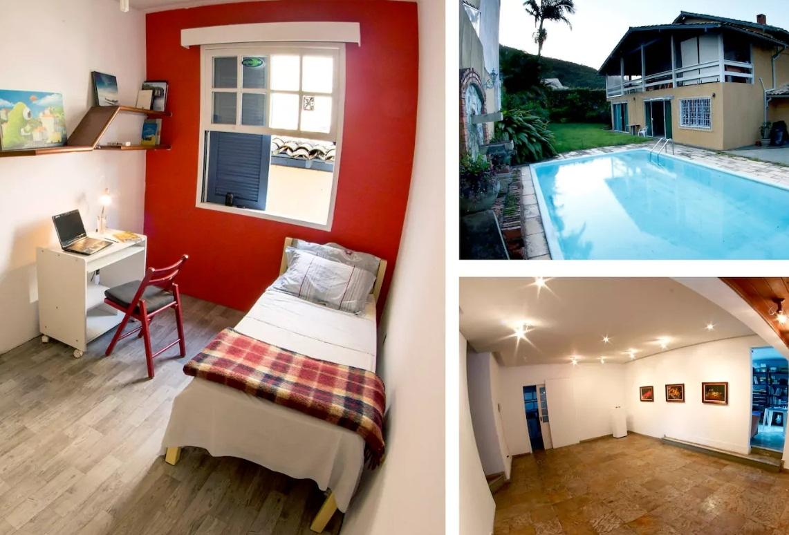 Coletivo artístico Na Casa também oferece cômodos através do Airbnb na Capital - Divulgação/ND