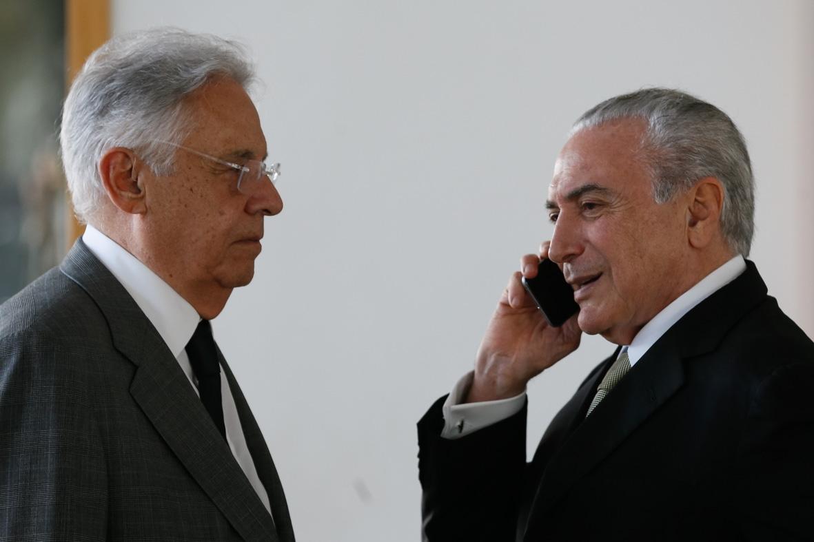 FHC encontrou Temer nesta sexta-feira, no Palácio da Alvorada - Beto Barata/Fotos Públicas/ND/Divulgação