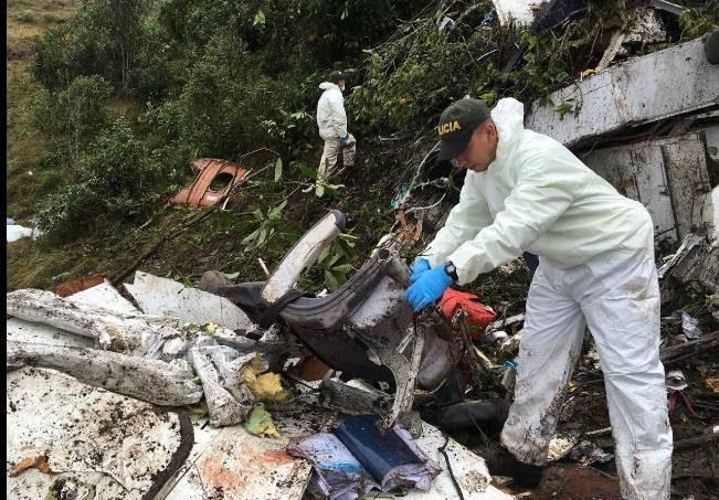 Local do acidente é de difícil acesso em mata fechada - Divulgação