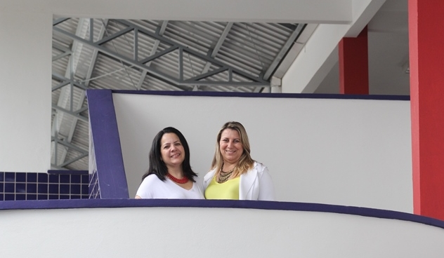 Diretora Margareth Terezinha Trentini Berri (direita) está desde 2015 no João Costa - Fabrício Porto/ND