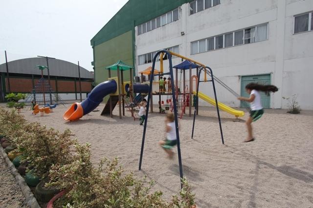 O Colégio da Univille tem atualmente 633 alunos no turno matutino, da educação infantil ao ensino médio - Fabrício Porto/ND