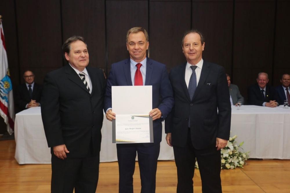Gean foi diplomado como prefeito na tarde desta quinta-feira - Jeferson Baldo/Divulgação