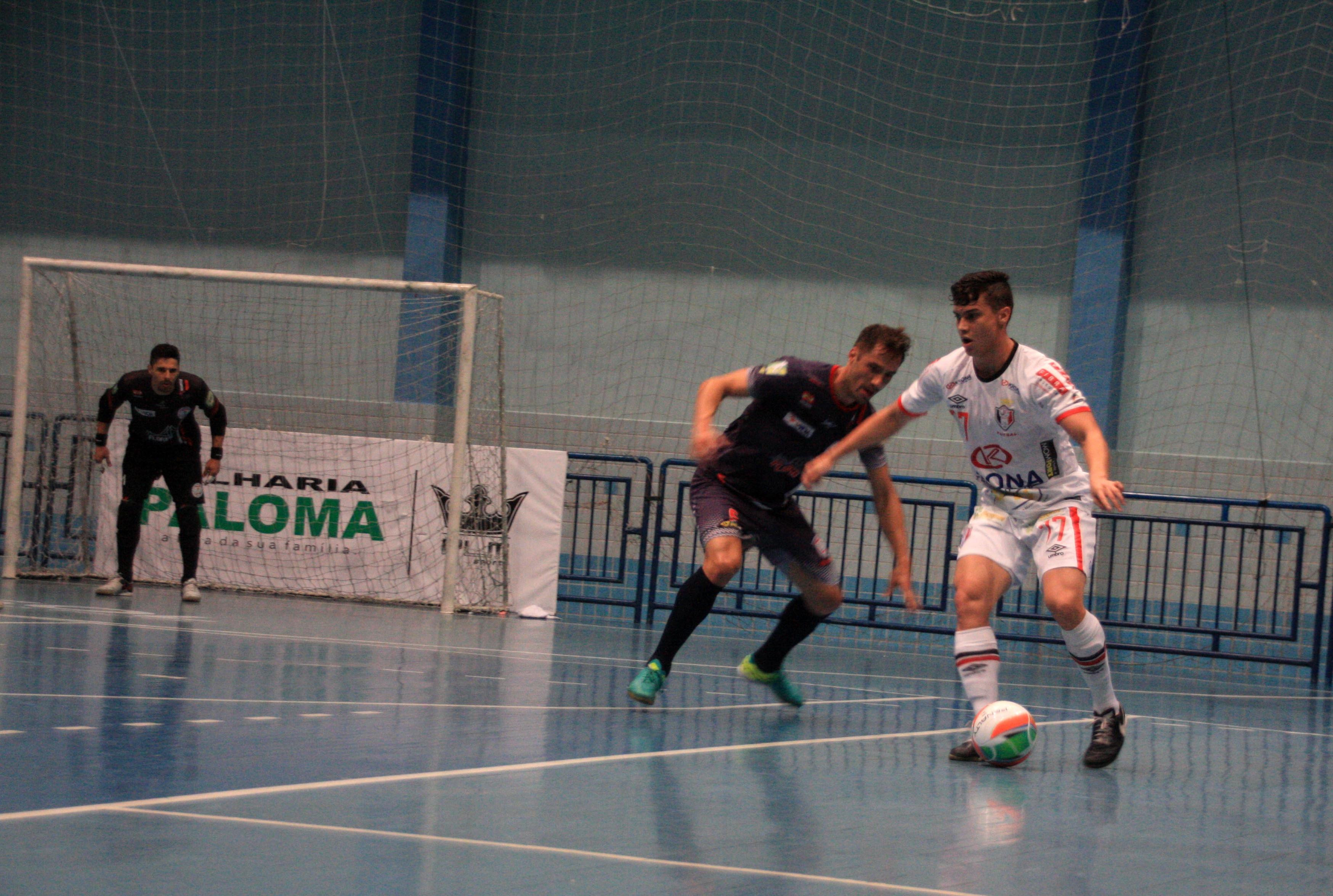 Floripa Futsal e JEC Krona fizeram um jogo muito equilibrado - JEC Krona/Divulgação/ND