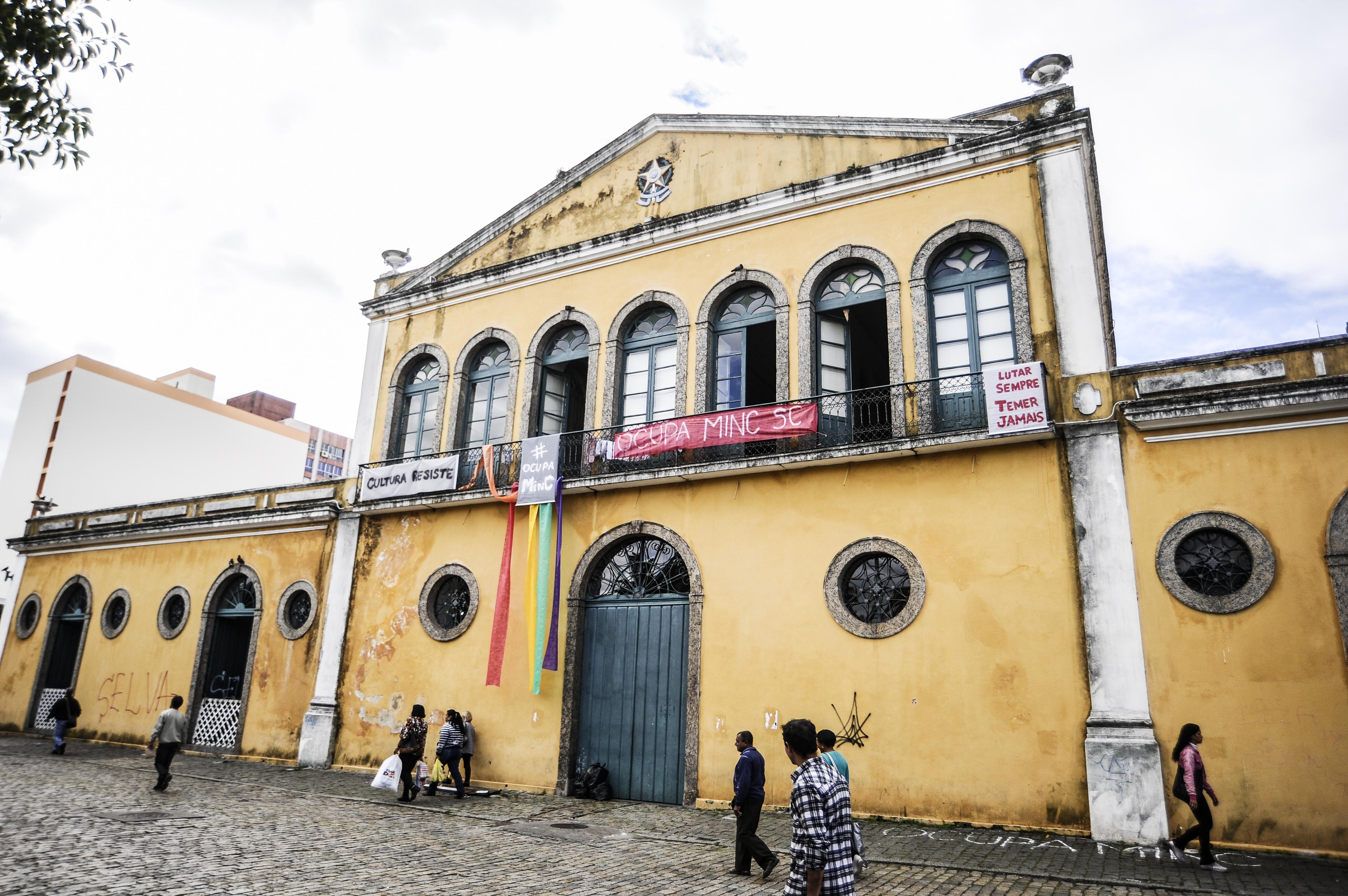 Movimento Ocupa MinC também foi forte em Florianópolis - Eduardo Valente/Arquivo/ND