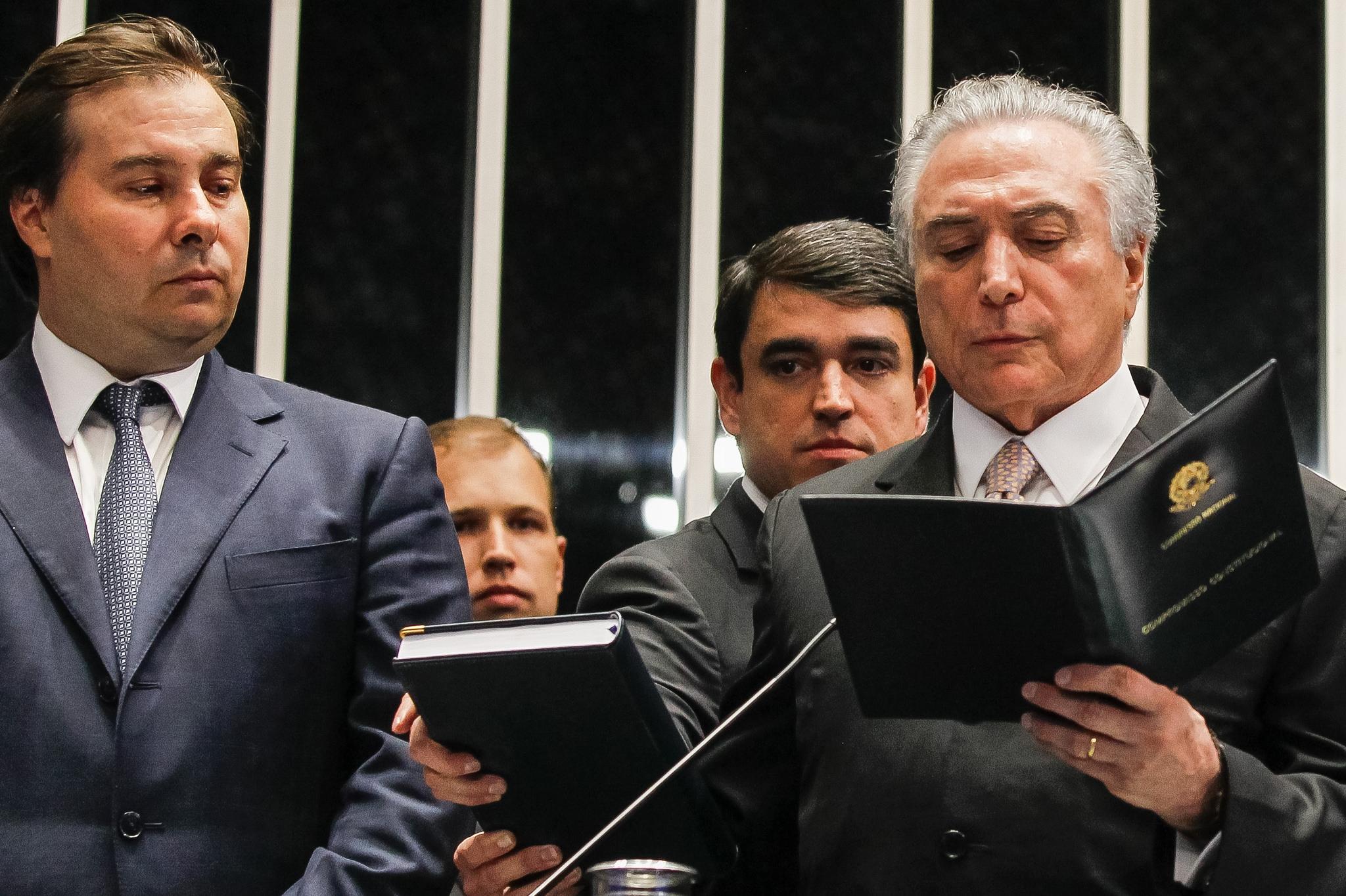 Temer assume definitivamente a Presidência - Beto Barata/Divulgação/ND
