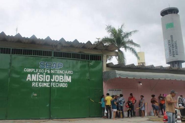 No Complexo Penitenciário Anísio Jobim (Compaj) havia 1.224 homens, o triplo da capacidade (454) - Divulgação/Secretaria de Administração Penitenciária do Amazonas