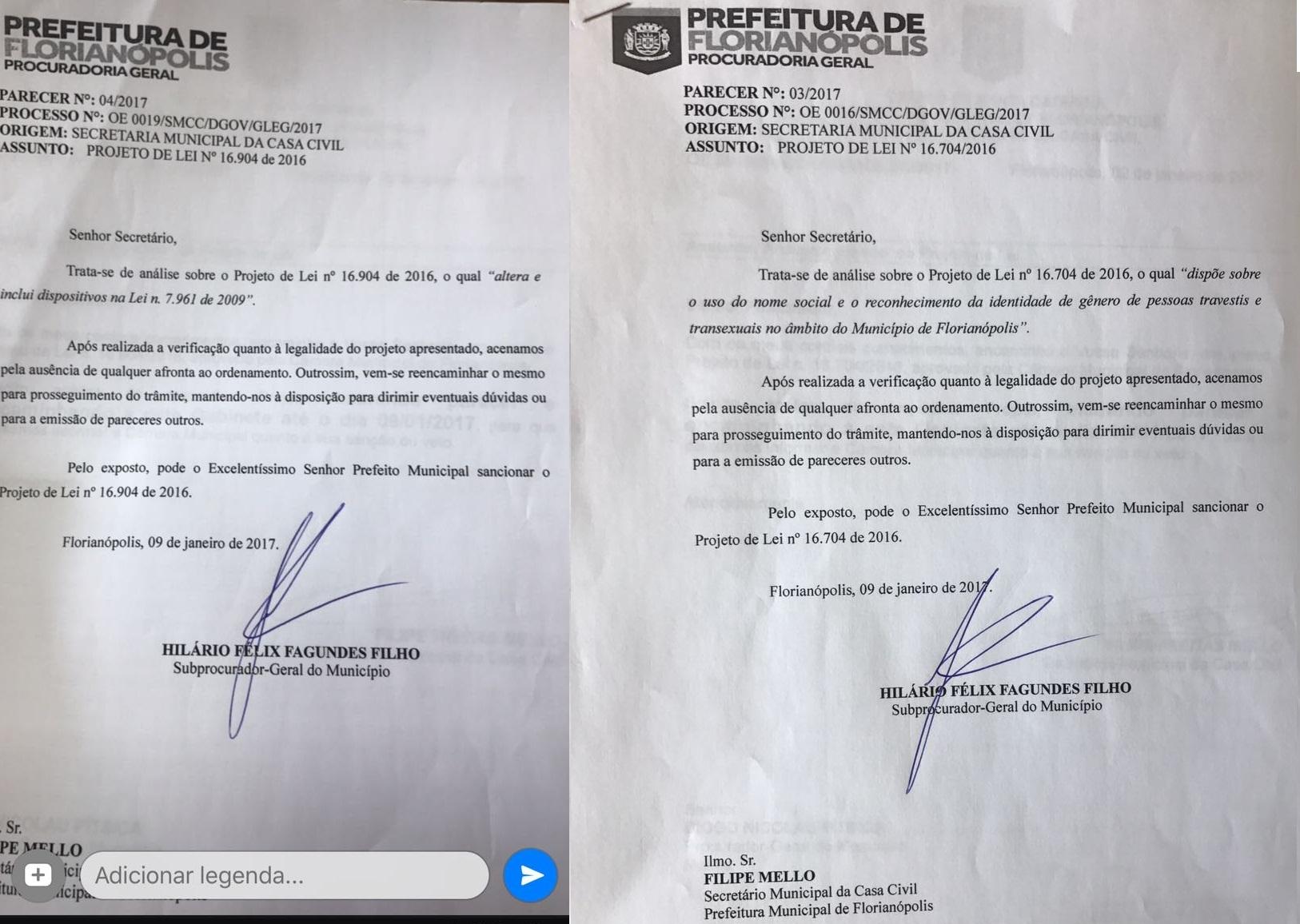 Documentos reforçam o parecer da procuradoria-geral do município - Divulgação/ND