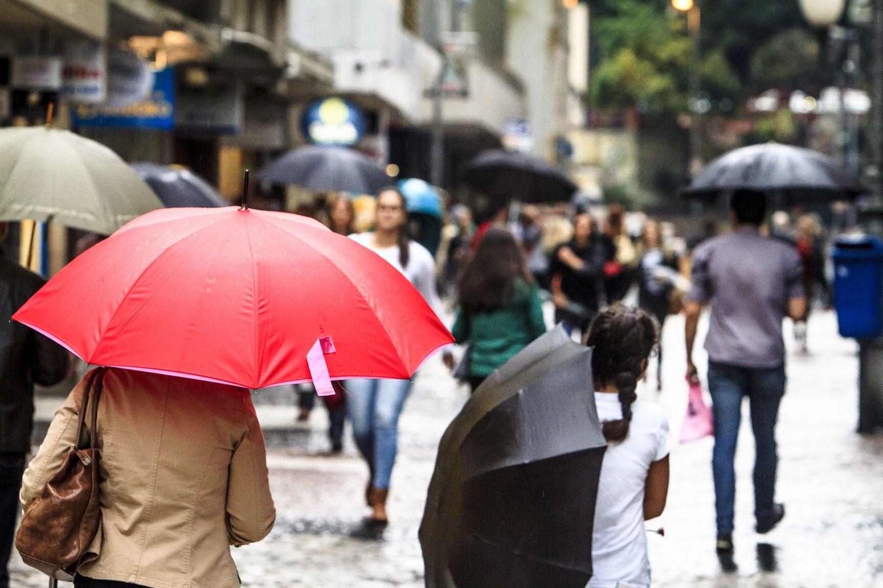 Previsão indica chuva até o fim desta quarta-feira, em Florianópolis - Bruno Ropelato/Arquivo/ND