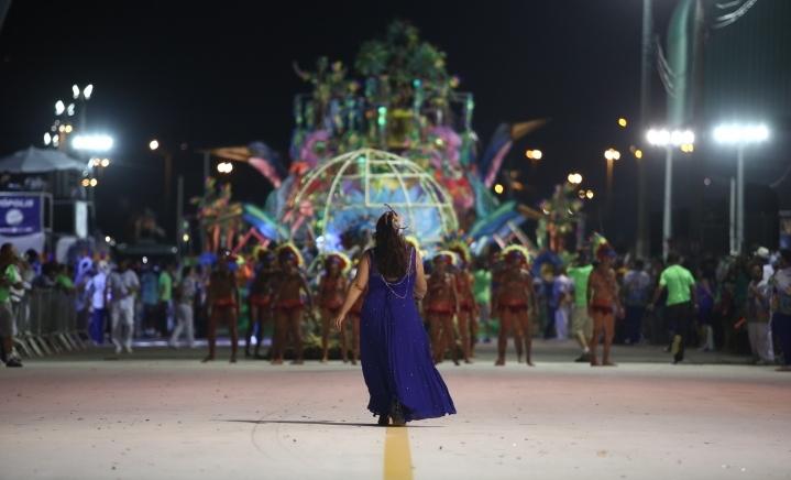 Desfile das escolas de samba em Florianópolis - Daniel Queiroz/ND