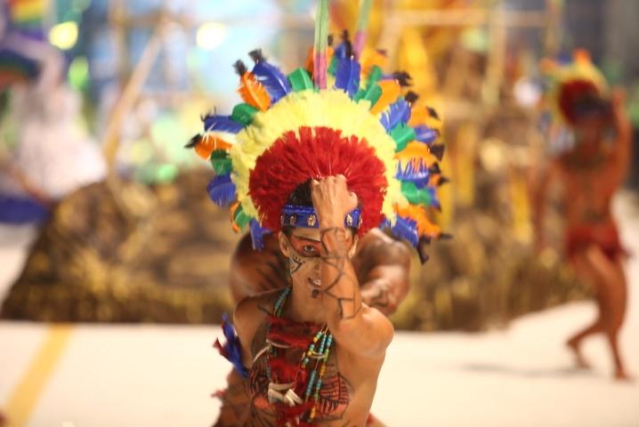 A escola trouxe a origem do mundo na visão guarani - Daniel Queiroz/ND