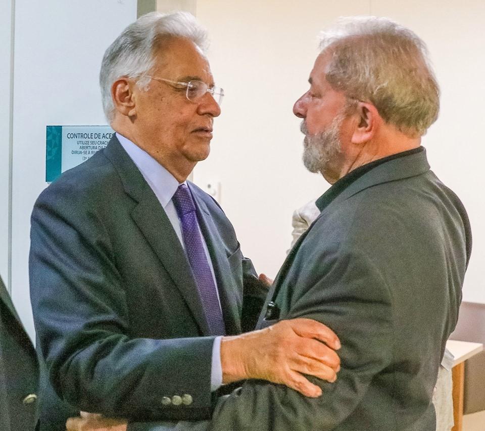 FHC visita Lula no hospital, após a morte de Marisa - Ricardo Stuckert/Divulgação/ND