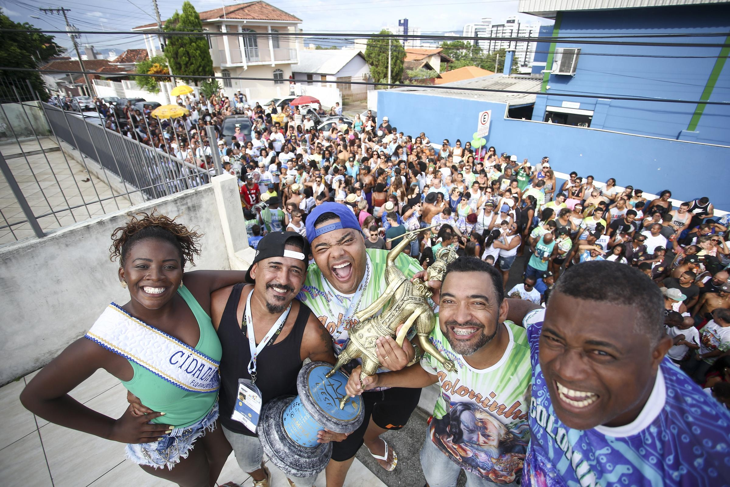 Outro título que a escola levou para casa foi o de cidadã-samba de Florianópolis - Daniel Queiroz/ND