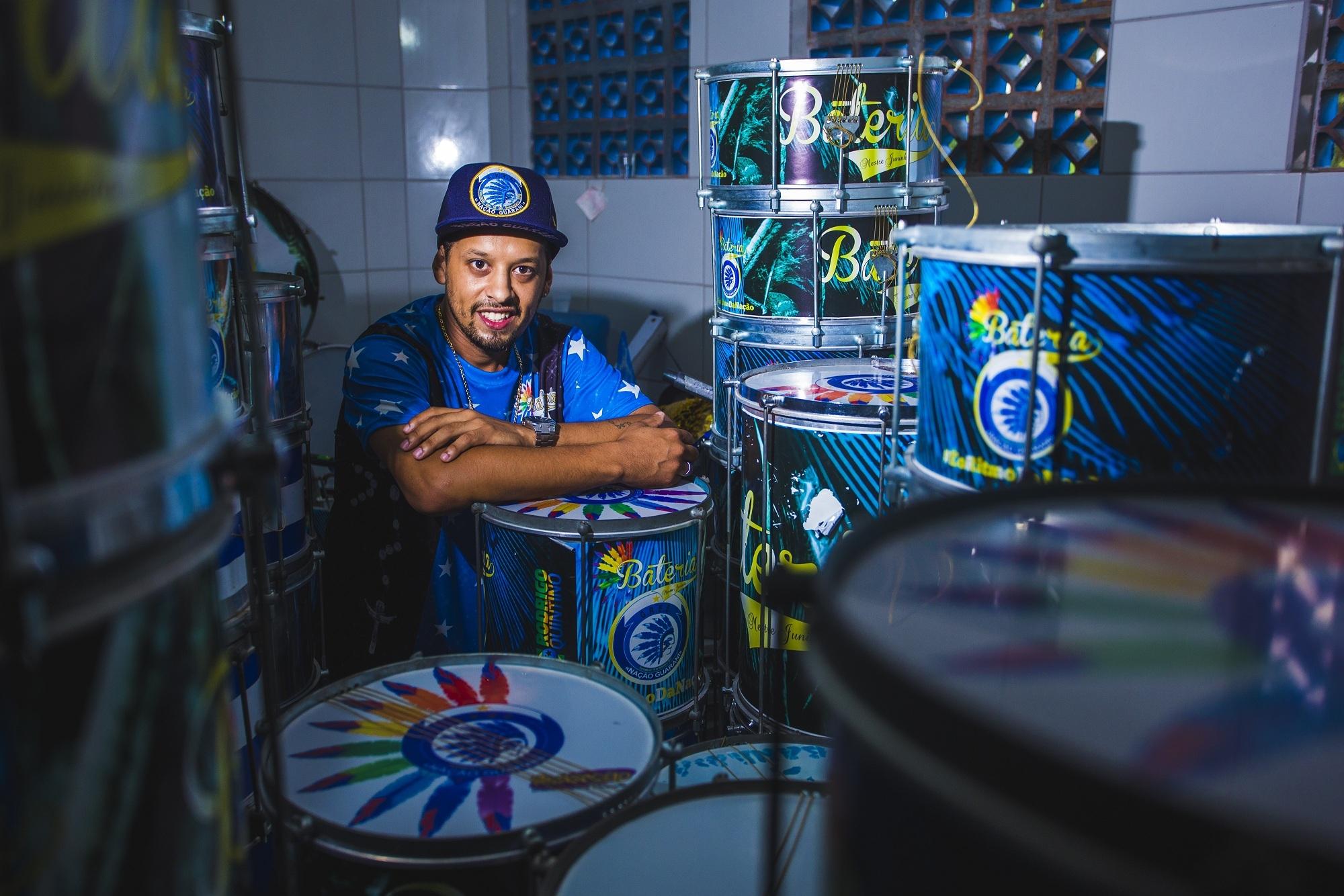 Juninho Zuação compôs as letras dos sambas da Nação Guarani e da Dascuia - Daniel Queiroz/ND
