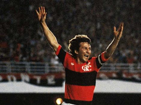 Zico em 1982 pelo Flamengo – Foto: (Foto: Divulgação)