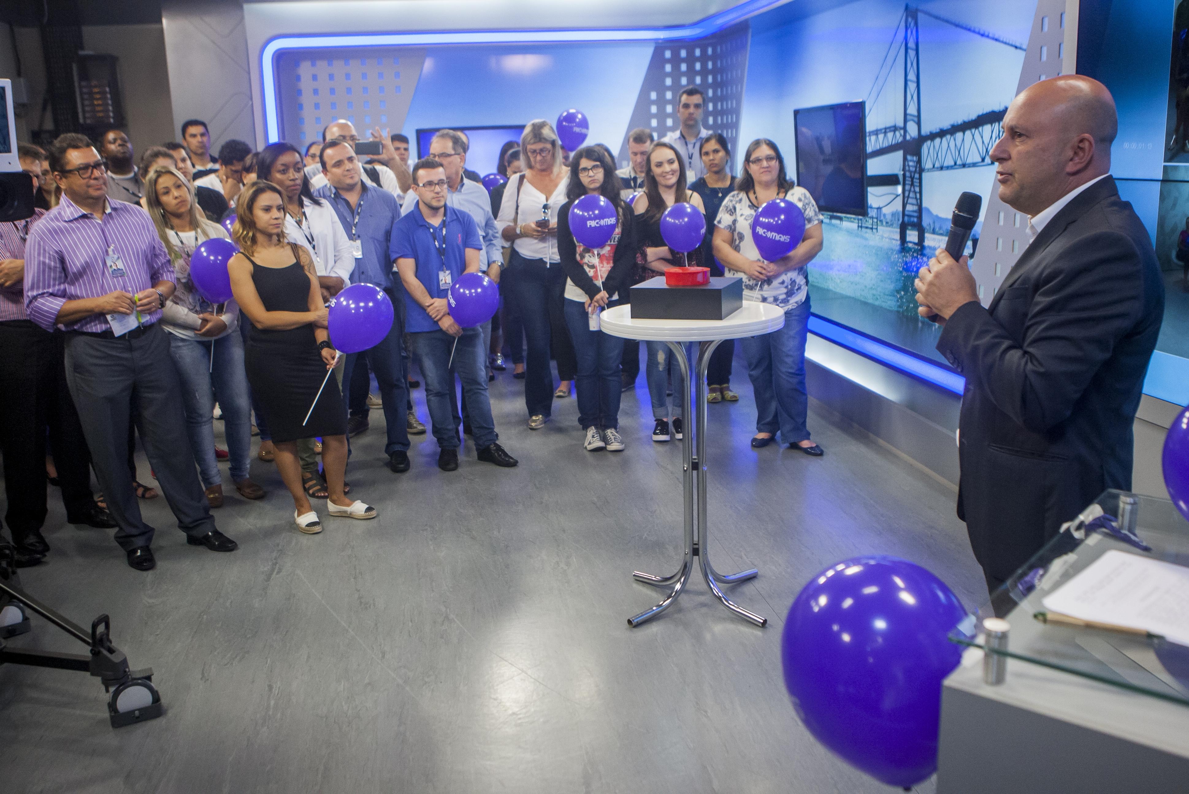 Presidente executivo do Grupo RIC SC, Marcello Corrêa Petrelli, participou do lançamento do portal - Flávio Tin/ND