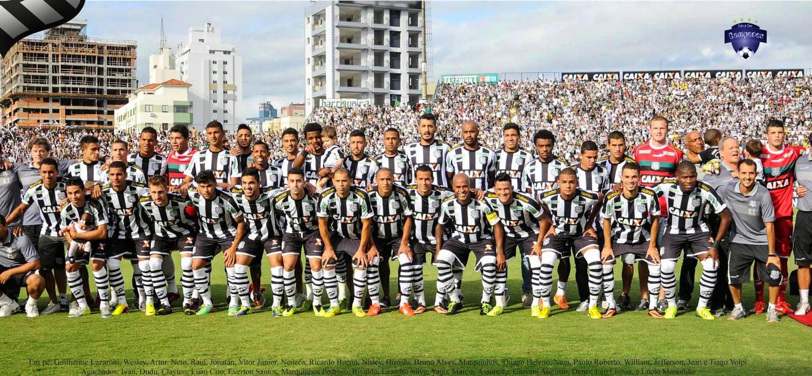 2014 (Figueirense): O Figueirense bateu o Joinville por 2 a 1 no Orlando Scarpelli e conquistou seu 16º título Catarinense – Foto: poster