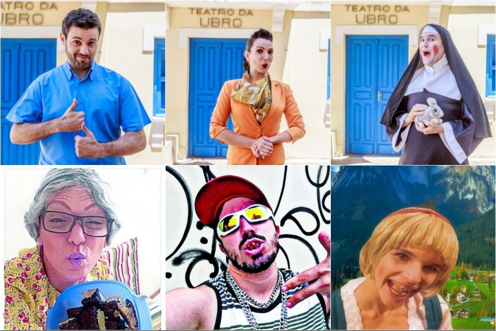 André Silveira (Cleosvaldo), Milena Moraes (Heide), Malcon Bauer (Irmã Frida), Monica Siedler (Lorelei), Igor Lima (Malaco da Costeira), Selma Light (Tia Leca) - Flávio Tin/Divulgação/ND / Divulgação ND