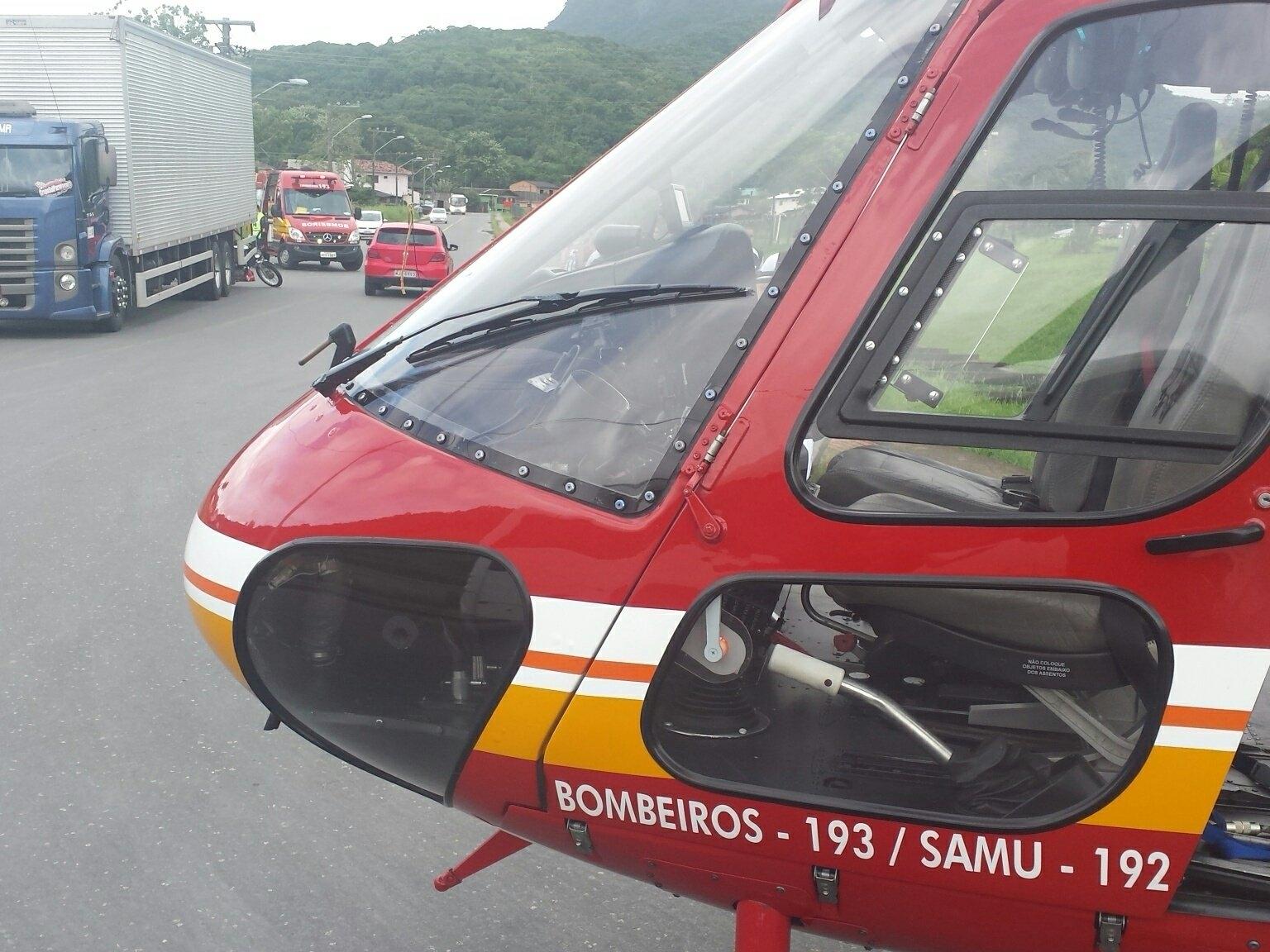 Arcanjo encaminhou o motociclista em estado grave ao hospital - Corpo de Bombeiros/Divulgação/ND
