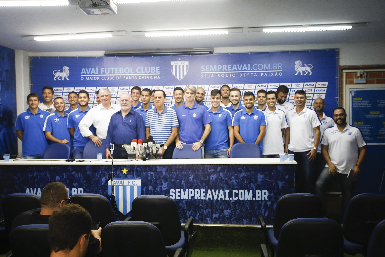Avaí oficializou parceria com o futsal nesta terça-feira - Daniel Queiroz/ND