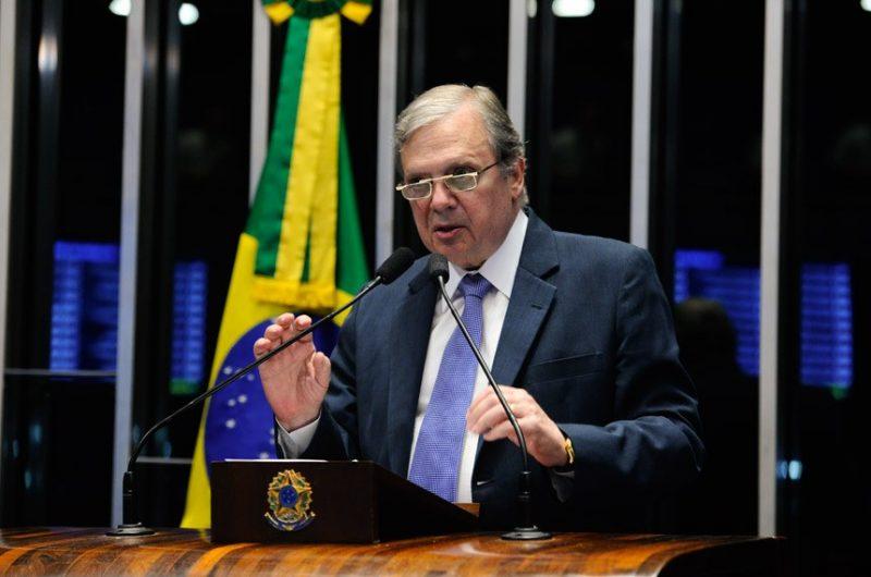 Relator da reforma, Senador Tasso Jereissati (PSDB-CE) participou de sessão temática nesta terça – Marcos Oliveira/Agência Senado/ND