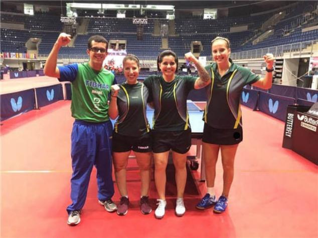 Tênis de mesa paralímpico brasileiro conquista ouro no Mundial (Foto: Divulgação/CBTM)