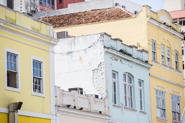 Conjunto histórico, no qual aparece a fachada deteriorada.  - Daniel Queiroz/ND