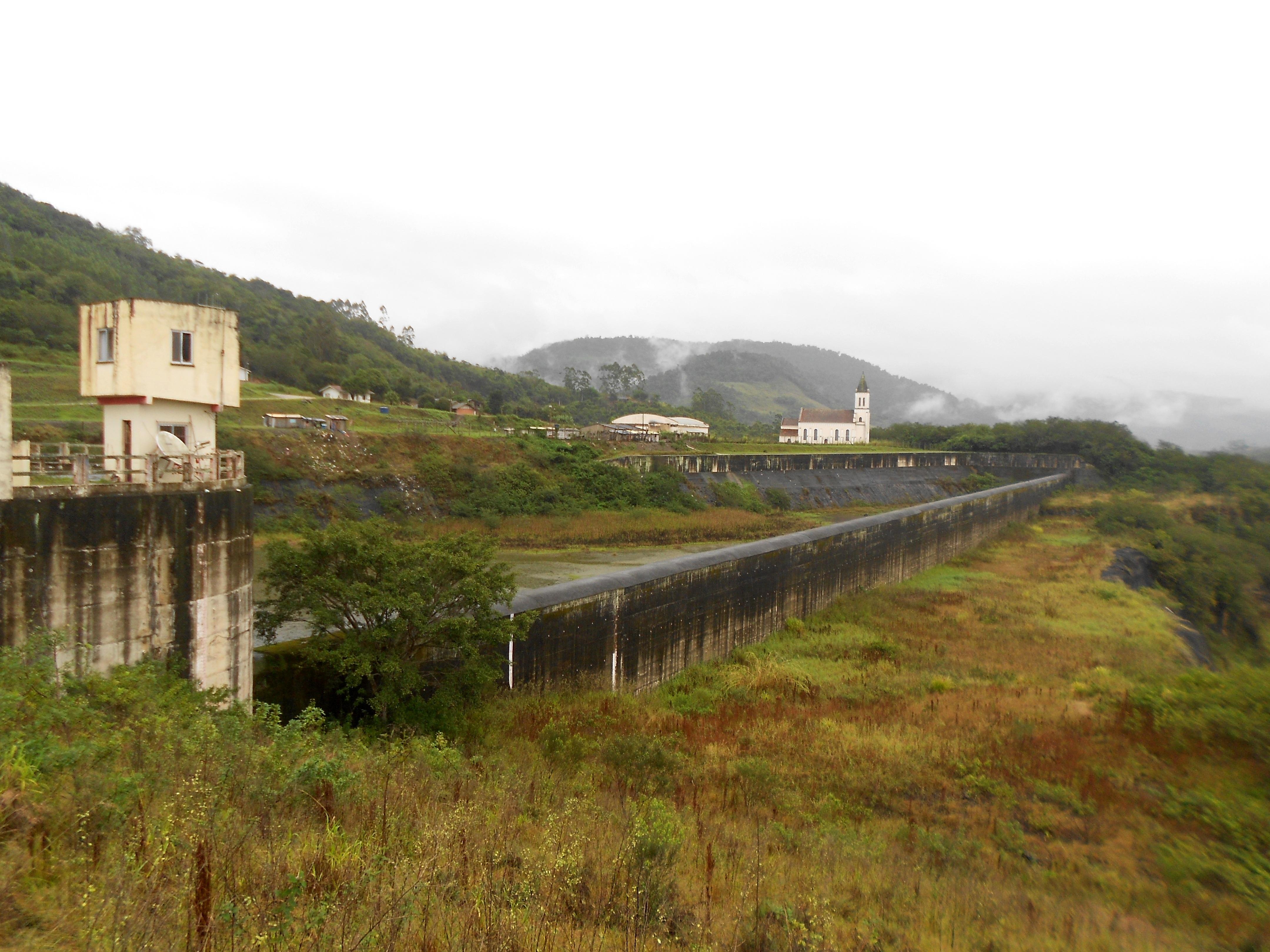 Barragem de José Boiteux é ocupada pelos indígenas desde 2015 - Otávio Júnior/Defesa Civil/Divulgação/ND